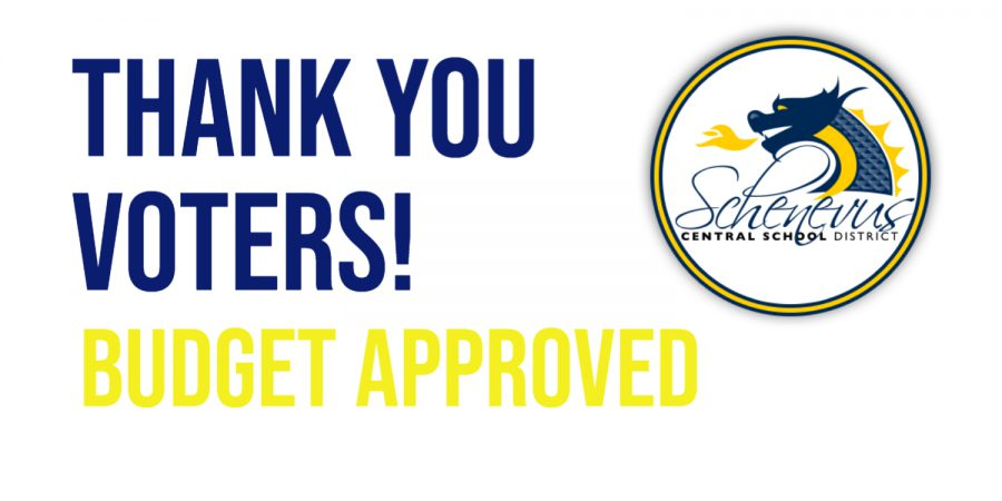 Thank you voters! Budget approved